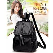 2019 Brand Minimalism Female Backpack Pu Leather Youth Women