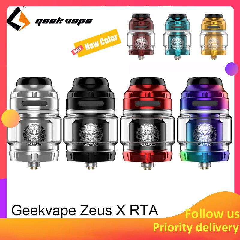 Geekvape Zeus X RTA 4.5ml tank capacity with 810 Delrin drip tip Electronic cigarette atomizer upgrade zeus dual/ AMMIT MTL