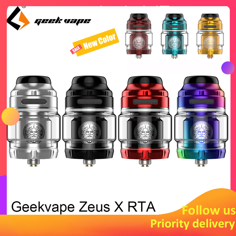 Geekvape Zeus X RTA tanque de 4,5 ml capacidad con 810 Delrin selección de la punta de goteo cigarrillo electrónico atomizador actualización zeus dual/ anubis MTL