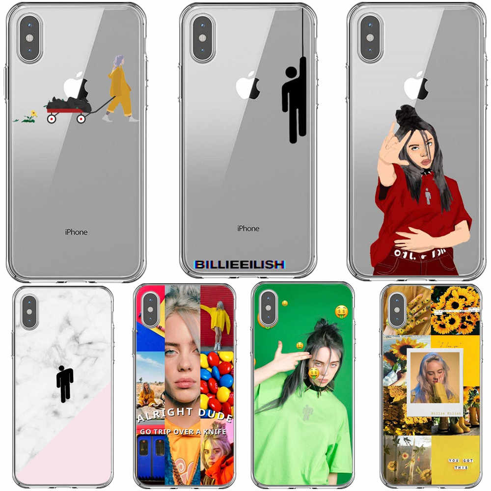 Billie eilish rainbow blohsh Ocean Eyes Clear กลับนุ่มสำหรับ iPhone X 5 5S SE 6 6SPlus 7 7Plus 8 8Plus XR XS MAX