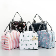 Sac à lunch en toile isotherme portable, motif fonctionnel glacière portatif, fourre-tout en toile isolé, sacoches de pique-nique pour femmes et enfants