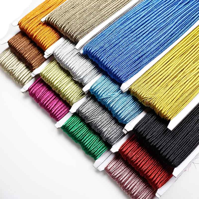 30 metre metalik renkler örgülü Soutach kordon 3mm naylon halat yılan göbek kabloları Soutache Metalico DIY takı yapımı için bulgular