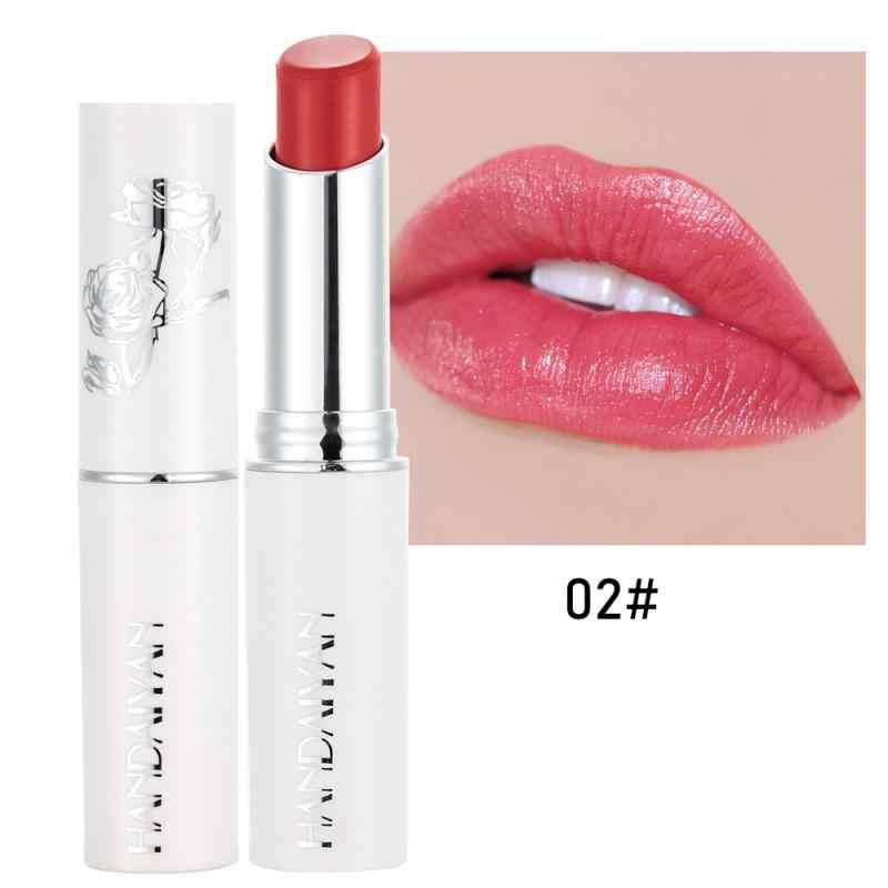 HANDAIYAN 1pc Natürliche Rose Essenz Glitter Lippenstift Feuchtigkeitsspendende Lip Balm Wasserdichte Langlebige Frauen Kosmetik Make-Up TSLM2