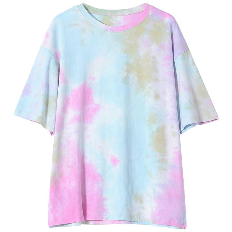 MiShow 2019 夏の女性のファッションカジュアルシンプルな文字のプリントラウンドネック多色半袖クリエイティブ Tシャツ MX19B3314
