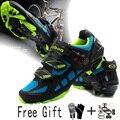 Tiebao ciclismo zapatos profesional sapatilha ciclismo MTB bicicleta de montaña chaussure vtt exterior para Mujeres Hombres bicicleta zapatos