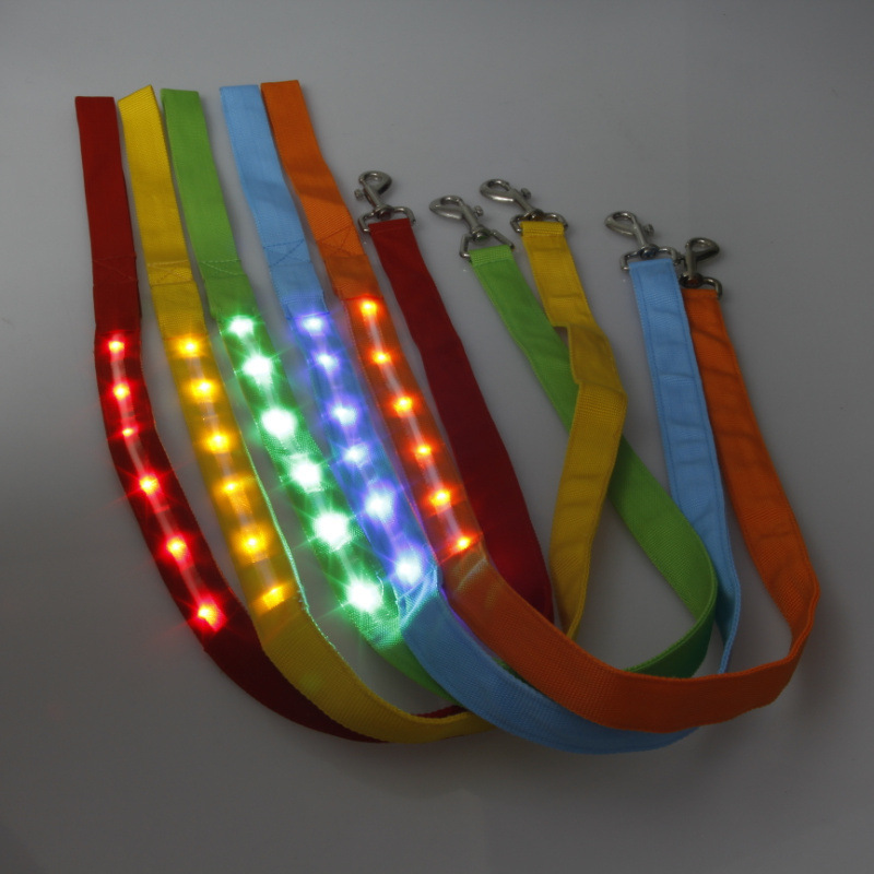 2.5 Wire Screen Light Belt Dog Traction Rope LED Shining Traction Belt Pet Traction Rope Pet Rope Supplies
