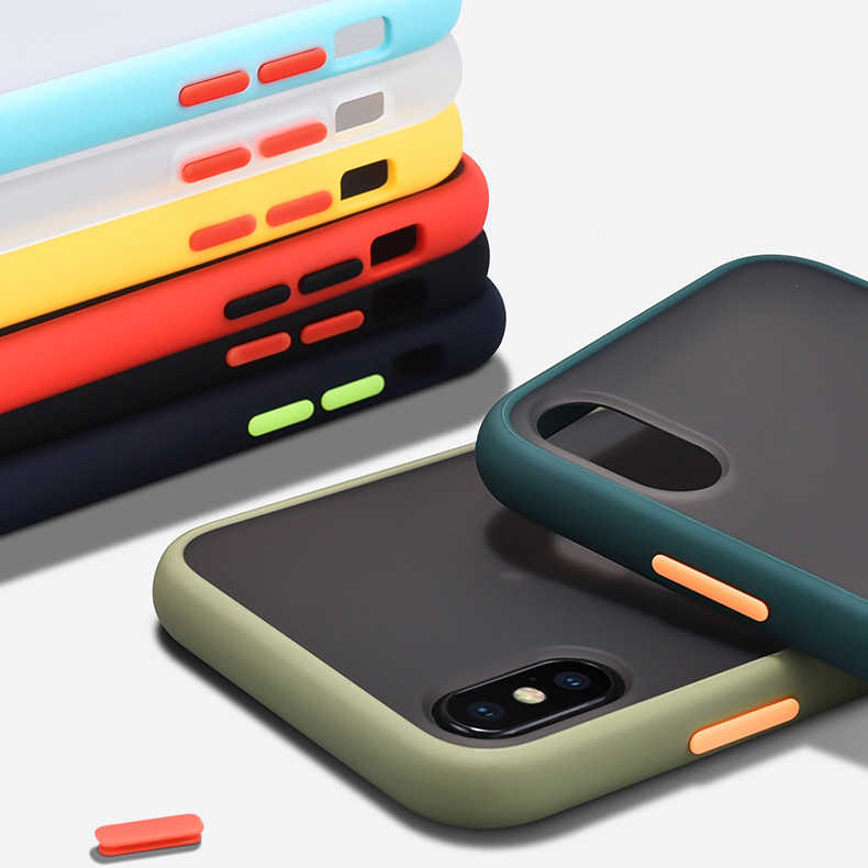 Funda protectora de silicona mate extraíble a prueba de golpes para iPhone 11 Pro Max 10 X XR XS para iPhone 8 7 6 6S Plus