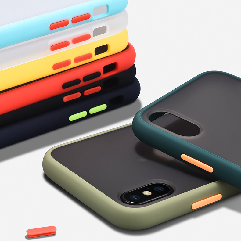 Removable Matte Silicone Shockproof <font><b>Bumper</b></font> Phone <font><b>Case</b></font> For iPhone11 Pro Max 10 X XR XS Hard PC For <font><b>iPhone</b></font> 8 7 <font><b>6</b></font> 6S Plus Cover image