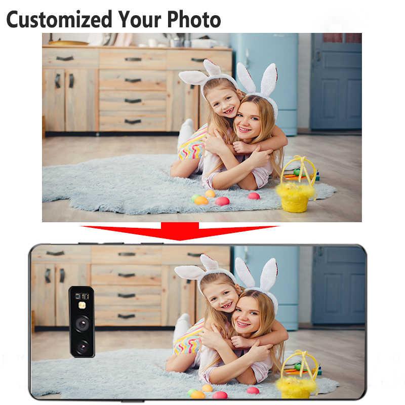 Imagem personalizada macio caso de telefone personalizado para samsung s8 s9 galaxy s10 e mais nota 9 10 pro m20 m30 m10 tpu preto macio cove