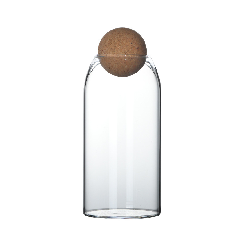 Ball cork lead-free glass jar with lid bottle storage tank sealed tea cans cereals transparent storage jars coffee contains