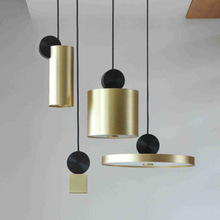 Postmodern Individual Creative Chandelier Nordic Living Room Bedroom Restaurant Bar Cafe Space Aluminum Gold