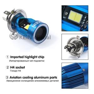 Image 4 - KEIN yeni melek gözler COB motosiklet kafa lambası ampulleri H4 Led H6 ba20d HS1 LED motosiklet kafa lambası Scooter aksesuarları sis lambası 25W