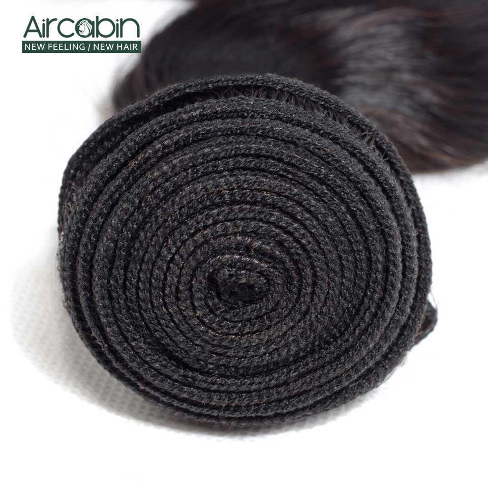 Aircabin solta pacotes de onda profunda tecer cabelo brasileiro 100% pacotes remy cabelo humano 1/3/4 pacotes cor natural extensão do cabelo