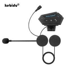 Motorcycle Bluetooth 4.2 Helmet intercom Wireless hands-free telephone call Kit Stereo Anti-interference Interphone Music Player