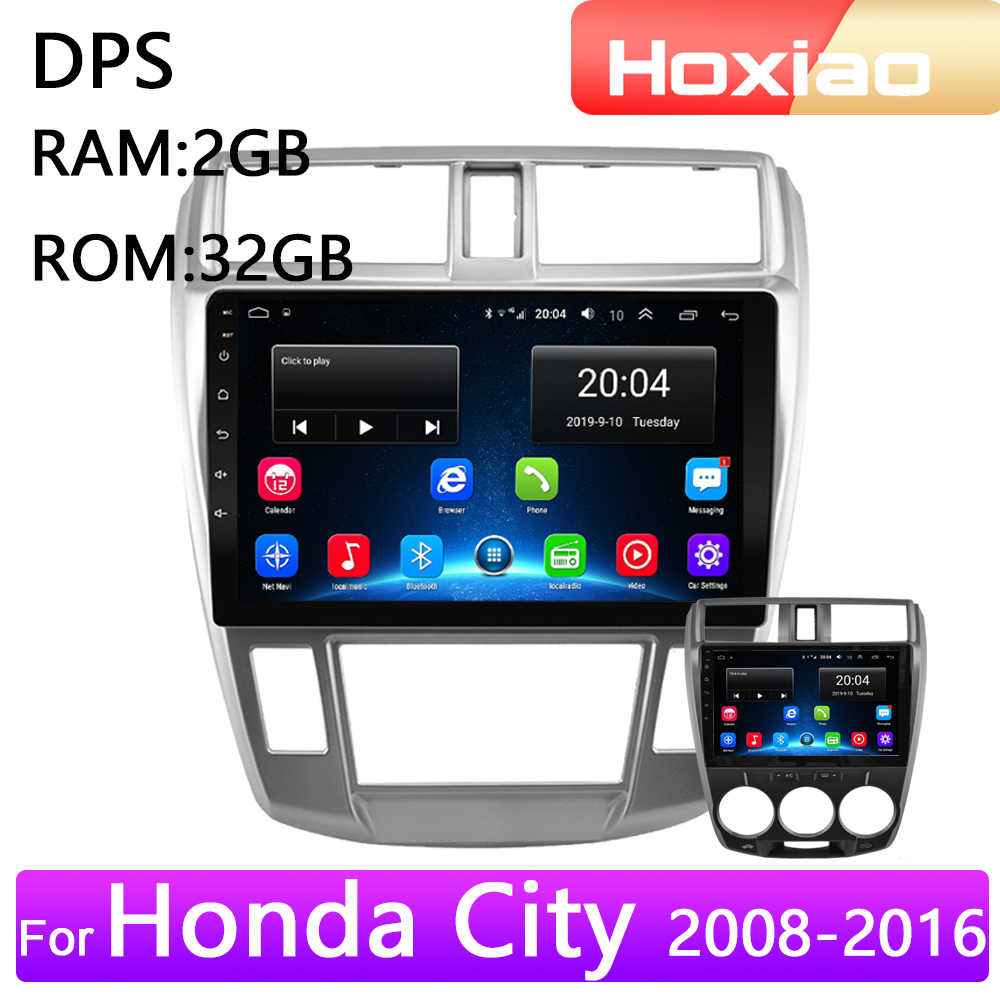 4G Android 2 Din araba radyo multimedya video oynatıcı Honda City 2008 için 2009 2010 2011 2012 2013 2014 navigasyon GPS ses 2din