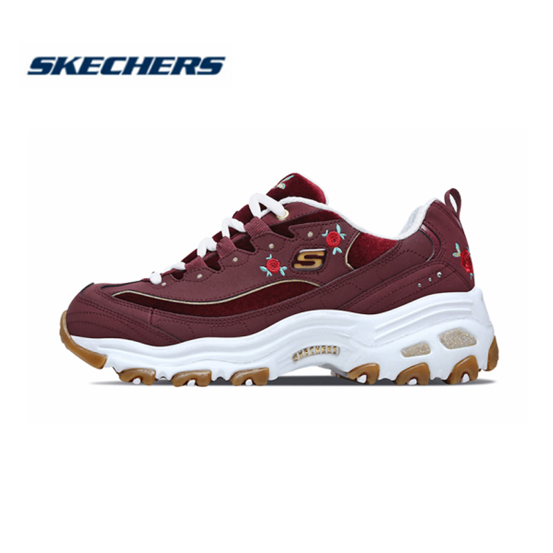 <font><b>Skechers</b></font> <font><b>Women</b></font> Shoes D'LITES Comfortable Breathable Casual shoes Woman Thick Sole Shoes 13084-BURG image