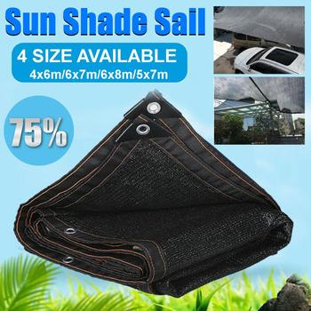 4x6m/5x7m Black Extra Heavy Duty Square Shade Sail Sun Canopy Outdoor Square Rectangle Garden Yard Awnings Decoration Shade Sails & Nets     -