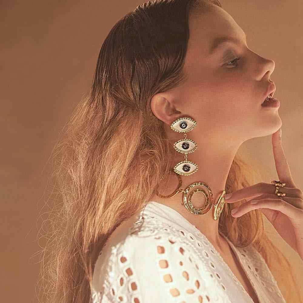 하트 모양의 악마 눈 여성의 귀 스터드 바 2020 보헤미아 방지 알레르기 귀 스터드 유럽과 미국의 대형 귀 스터드 도매