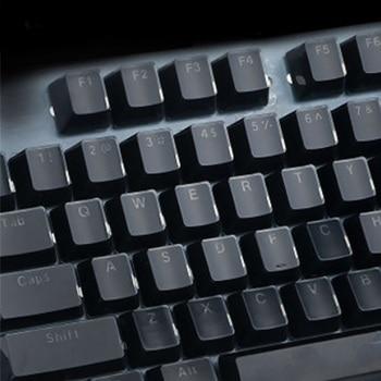 104 adet pratik dayanıklı ofis şeffaf düşük profilli kaldırma bilgisayar kristal kenar tasarımı ABS klavye tuş ergonomik aksesuar ev