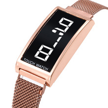 Full Stainless Steel Digital Clock for Children Watch Touch Screen Electronic Ki