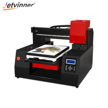 Jetvinner Automatic A3+ Flatbed Printer 33* 60 cm DTG Printer T-shirt Printer For Textile Shirt Canvas With Double Print Head цена 2017