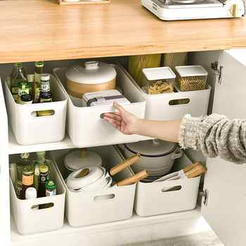 2pcs PP Make Up Organizer For Underwear Solid Box Kitchen Storage Containers Bedroom Organizer Box Small Items Storage Boxes New - DISCOUNT ITEM  31 OFF Home & Garden