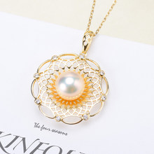 3Pcs/Lot Big Lace Design S925 Sterling Silver Pearl Pendant Moutings Women DIY Handmade Craft Pendant Fittings(China)
