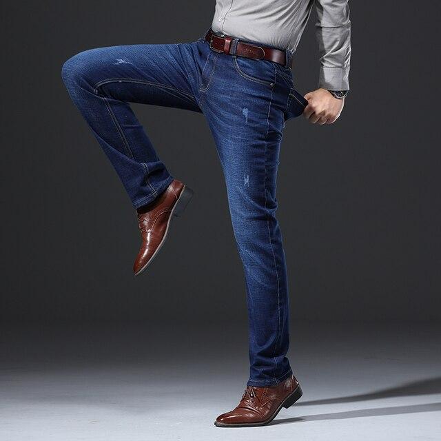 2020 New Design Jeans Mens Pants Cotton Deniem Classic Trousers Casual Stretch Slim High Quality Black Blue Multiple Styles 4