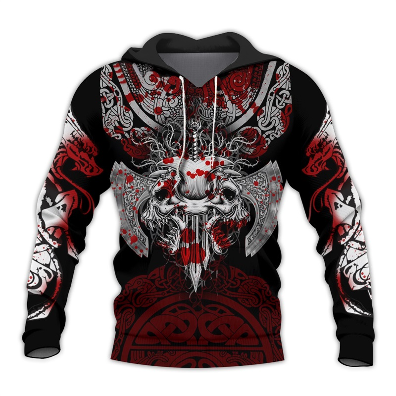 Liumaohua Viking Warrior Tattoo 3D Printed Shirts Casual 3D Print Hoodies/Sweatshirt/Zipper Man Women Fashion Hoodies