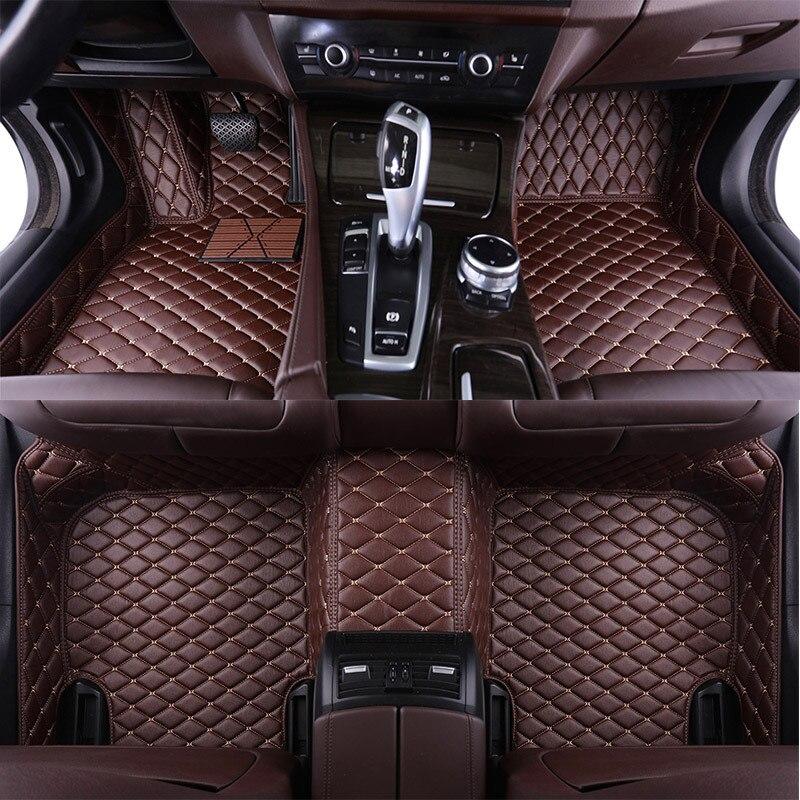 Tapis de sol de voiture en cuir sur mesure pour Audi SQ5 TT TTS tapis de pied de voiture tapis de sol Auto tapis de style intérieur de voiture
