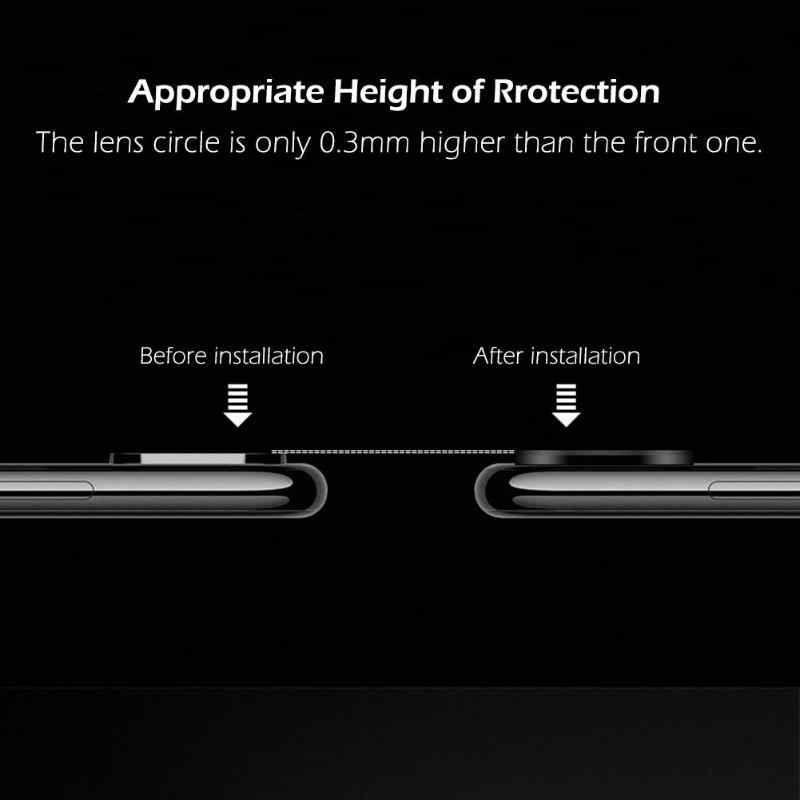 Hat-Prince Mobile Phone Back Camera Lens Metal Case Shell Screen Protector Cover Protective Film For Huawei Mate 20/Mater 20 Pro