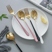 Couverts occidentaux en acier inoxydable vaisselle cuillère fourchette couteau pour Spaghetti Steak salade nourriture photographie tir ornement accessoires