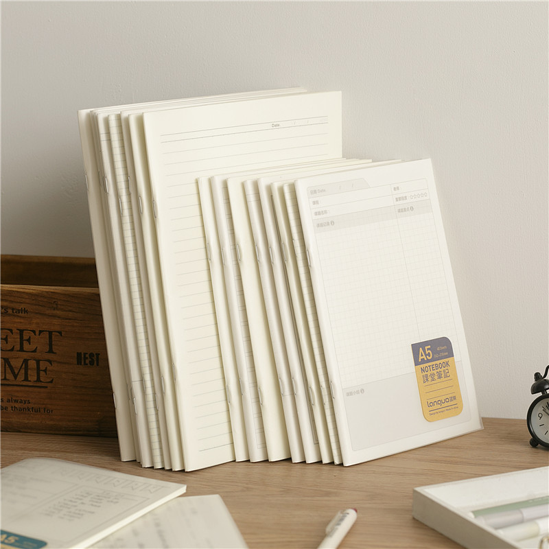A5a6 PP Notebook Dotted Line Blank DIY Diary Agenda With Refills Notepad Staple Binding 40 Sheets(80 Pages)