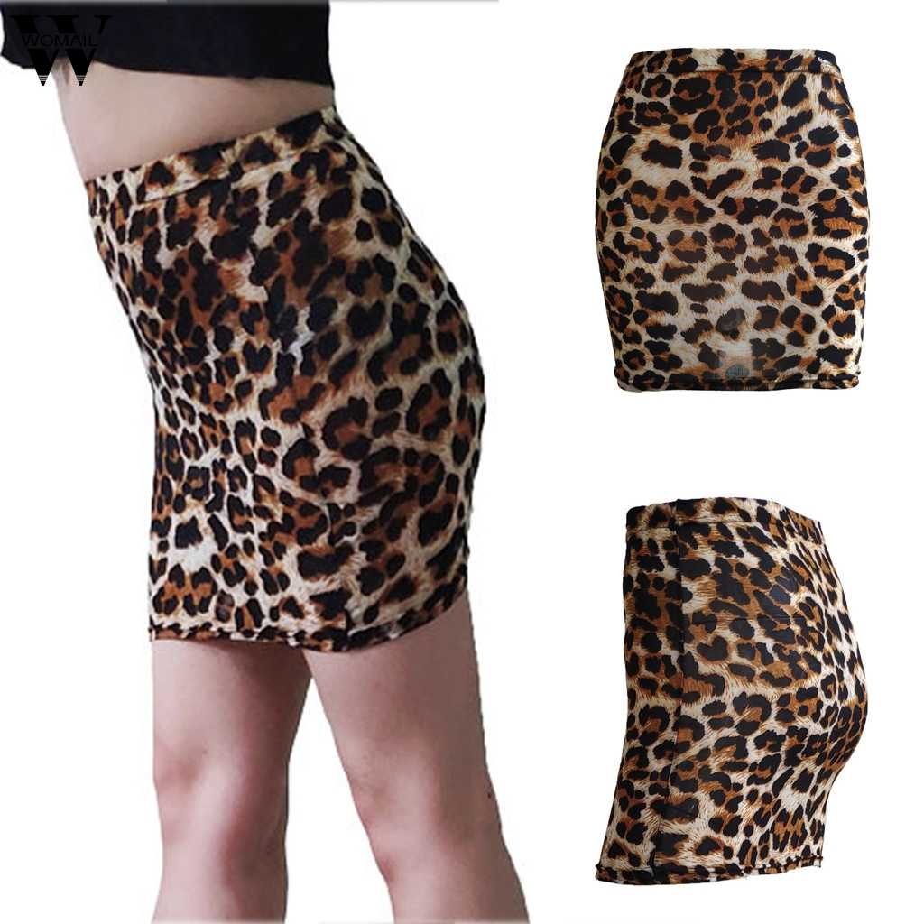 Womail Skirt Leopard Print Bodycon Skirt Casual Mid Waist Pencil Night Out  Mini Skirts Women Autumn Elegant Workwear Skirts N20|Skirts| - AliExpress