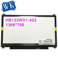 Free Shipping HB133WX1 402 N133BGE EAB B133XTN01.6 M133NWN1 R3 30pins EDP for Acer S5 S5 391 Laptop LED Display Screen