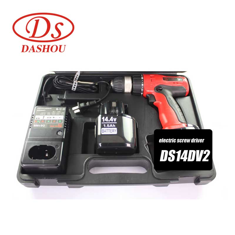 DS Power Tools Charging 14 4V Battery Rechargeable Electric Screwdriver Home Mini Drill DS14DV2 in Electric Screwdrivers from Tools