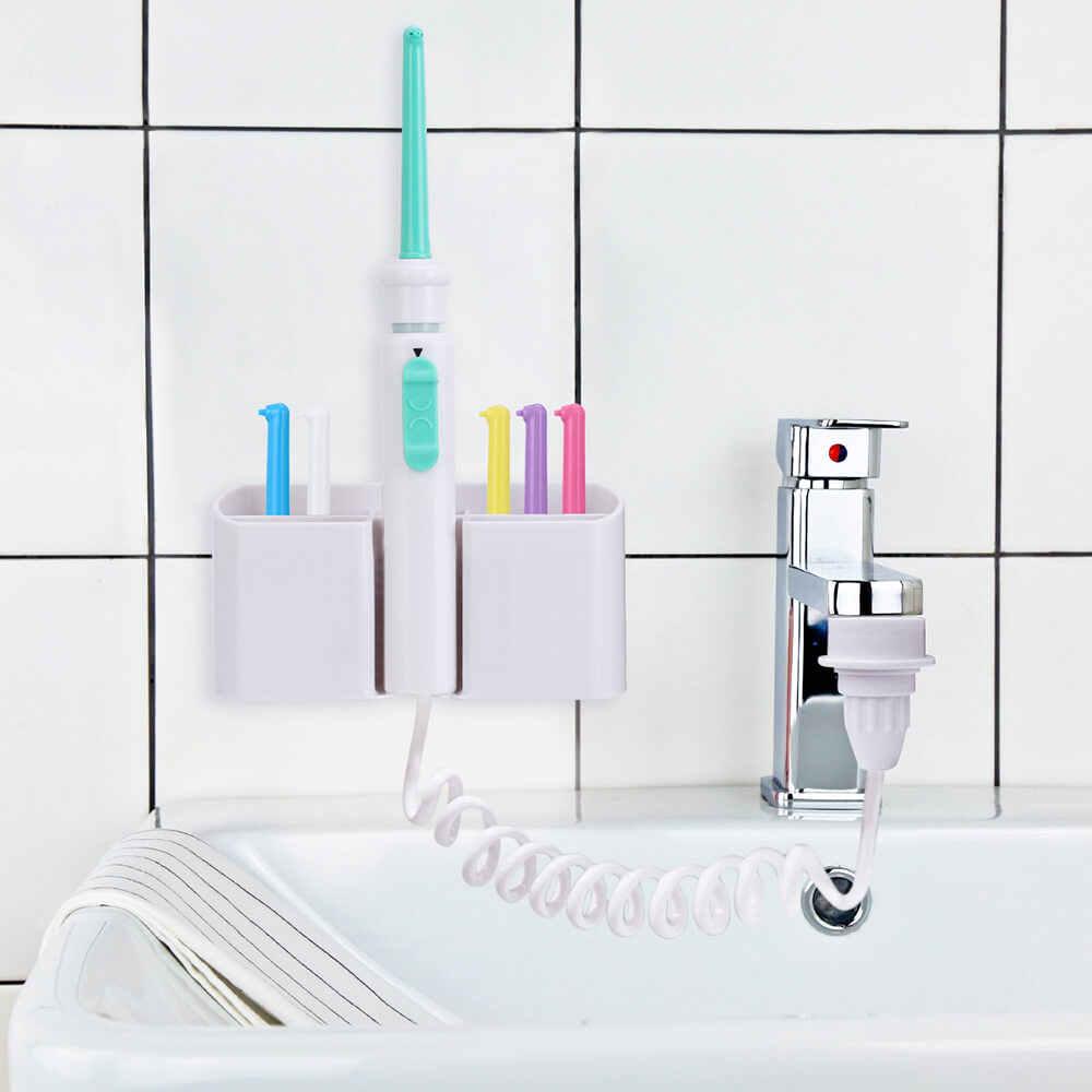 6 dysze kran Oral Water irygator nić dentystyczna przenośne ustne nawadnianie strumień wody pod ciśnieniem Floss szczoteczka do zębów ząb SPA Cleaner