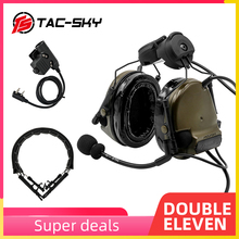 TAC SKY COMTAC III helmet bracket silicone earmuffs headset with PTT U94 PTT and tactical headset replacement headband headband