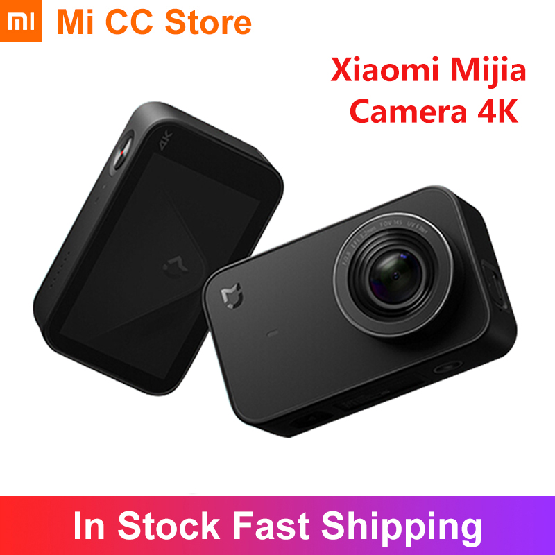 "Xiaomi Mijia 4K Camera 30fps Action Video Recording 2.4"" Touch Screen 1450mAh Wifi APP Control Portable Mini Sport 4K Camcorder