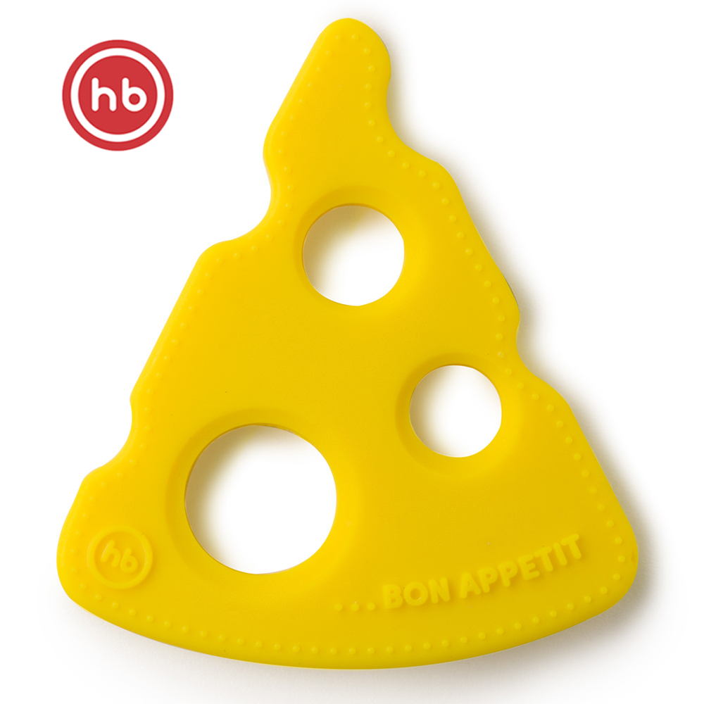 Baby Teethers Happy Baby 20034 Light Yellow  teething toy gum massager teether rodents silicone