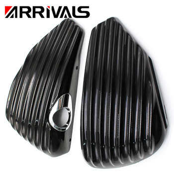Black Motorcycle Left&Right Side Oil Tank Battery Cover Fairing Guard For Harley Sportster XL1200 XL883 2014 2015 2016 2017 for harley side cover