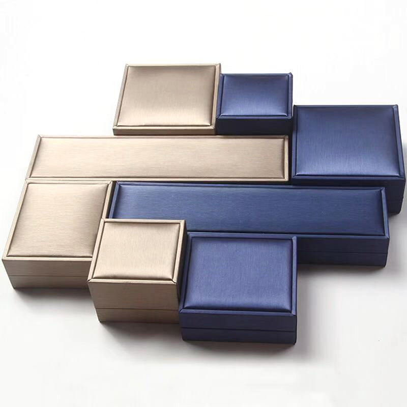 Necklace Jewelry-Box Ring Packaging Wedding-Embossing Baby Gift Matte Wholesale Portable title=