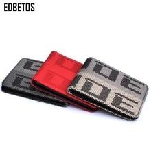Edbetos noiva carteira carteira auto bolsa noiva jdm versão 2 corrida assento tecido e lona de couro takatas carteira caso chave