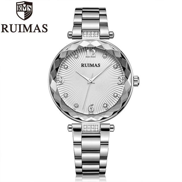 Ruimas Women Watches Top Brand New Quartz Orologio Donna Luxury Bracelet Watch Waterproof Stainless Steel Watch Links 529