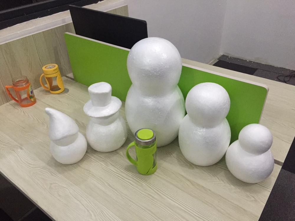 Polystyrene Styrofoam Foam Snowman Model Can Make Snowman Scene Props Model By Hand In Christmas Winter DIY Materials Many Style