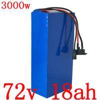 72V バッテリーパック 72V 18AH 電動自転車 batttery 72V リチウム電池 72V 1000 ワット 2000 ワット 3000 ワット電動自転車のバッテリー充電器