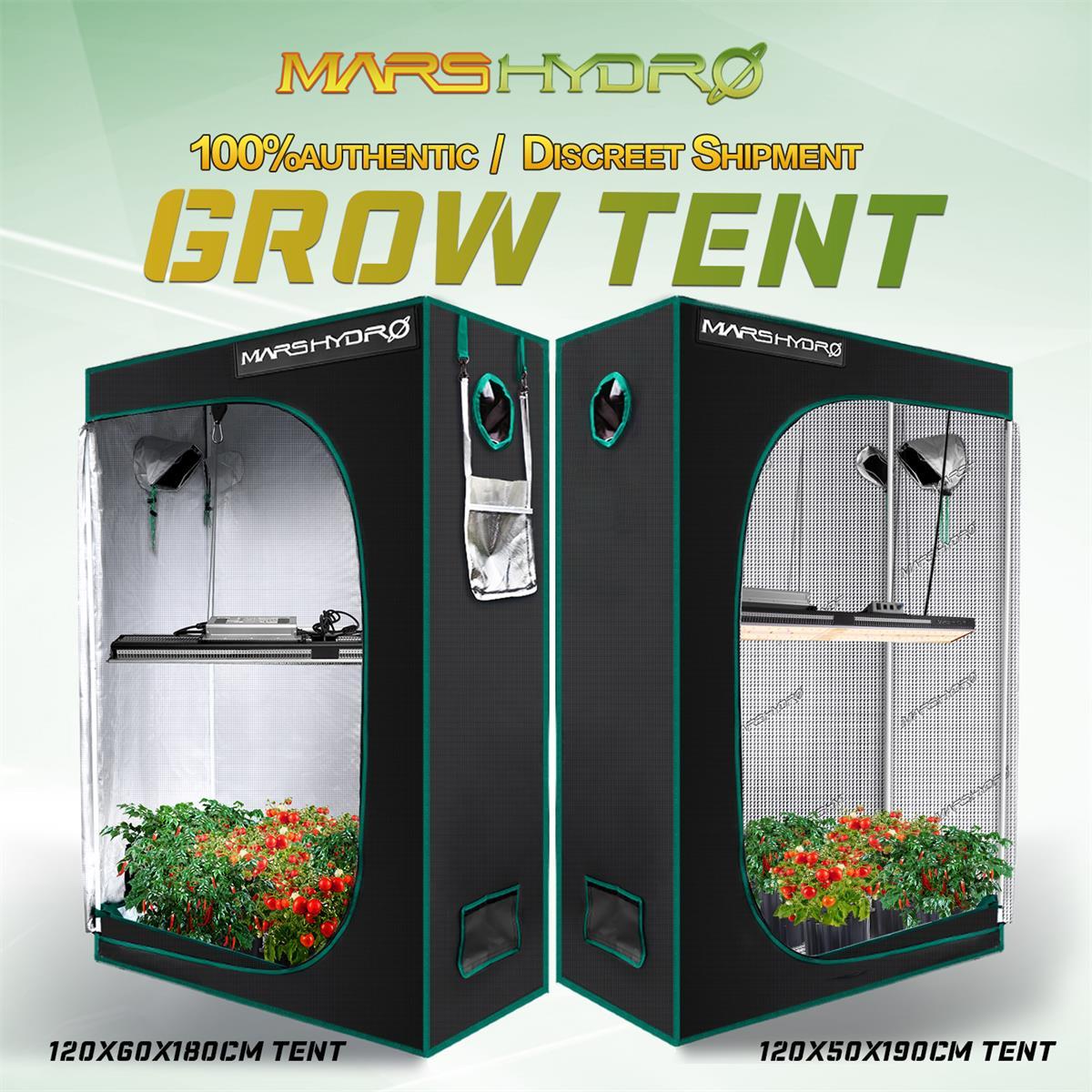 Тент Mars Hydro120x60x180CM и 120x50x190 см для выращивания растений, тент нетоксичный водонепроницаемый светоотражающий для гидропонных систем, комнатны...
