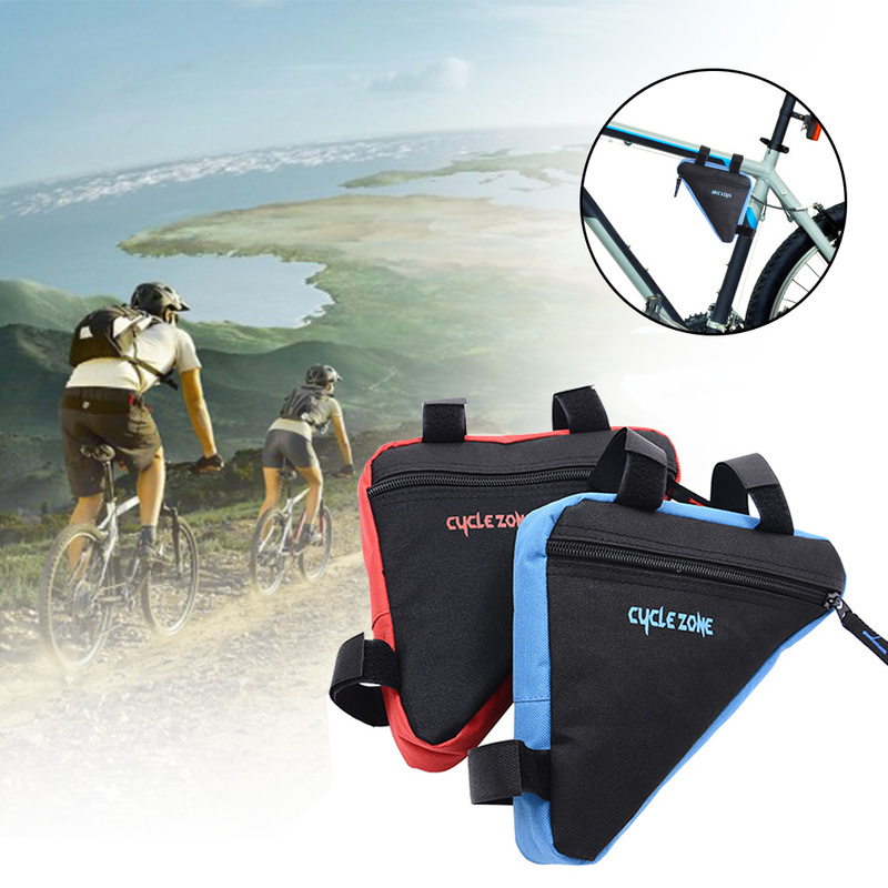 MTB Road bike front frame triangle bag bicycle beam bag bicycle tube bag bracket saddle bracket kit bicycle accessories-in Bicycle Bags & Panniers from Sports & Entertainment