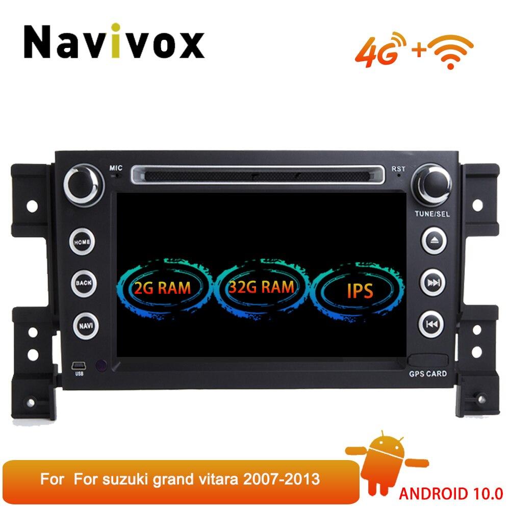 Navivox 7 ips Android 10,0 автомобильный Радио gps навигация мультимедийный плеер стерео для Suzuki Grand Vitara 2006 2013 навигация
