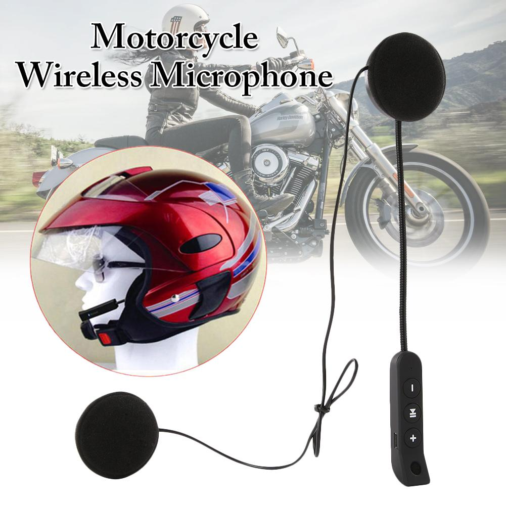 1PCS Wireless Microphone Speaker Motorcycle Headset Soft Accessory Installation Universal Automatic Call Answering Hands Free